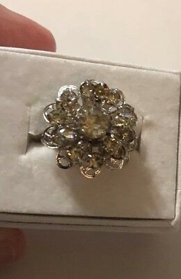 Stunning Vintage Estate Ring Size 4.5 Signed Sarah Cov