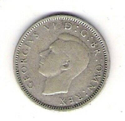 1944 Silver Sixpence Great Britain Circulated