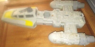 Rare Old Vintage Star Wars Y Wing Fighter Plane Working Electronics & Guns 1983
