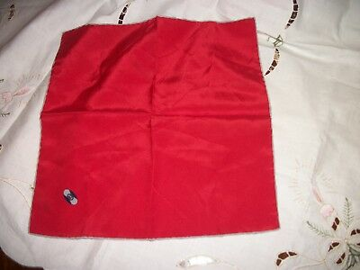 """Gucci Accessory Collection Handkerchief Red Made in Italy 100% Silk 12"""" x 12"""""""