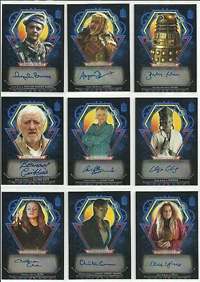 Topps Doctor Who Extraterrestrial Encounters Blue Auto Autograph #ed / 25 - PICK