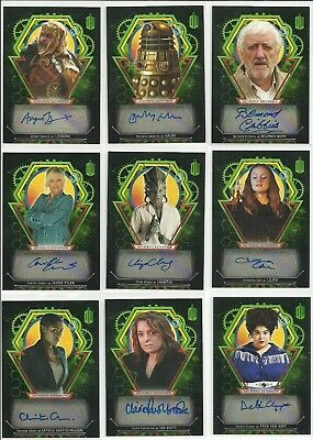 Topps Doctor Who Extraterrestrial Encounters Auto Autograph Card #ed / 50 - PICK