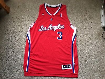 5b98f97cfea ... promo code mens adidas nba los angeles clippers chris paul 3 red jersey  size xl 30.00