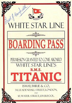 TITANIC  '' BOARDING  PASS for TITANIC''