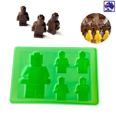 LEGO Man Robot Silicone Mould Chocolate Ice Mold Fondant Cake Topper HKIM78005