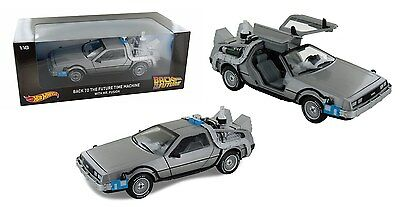 Hot Wheels 1:18 Back To The Future Time Machine With Mr Fusion