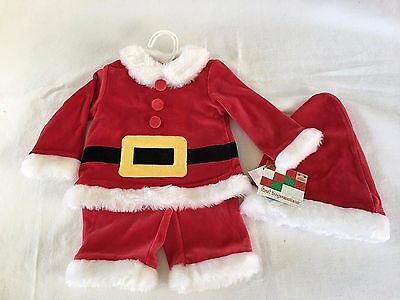 First Impressions Red Christmas Outfit Infant Boys 3 Piece Size 3-6 Months NWT