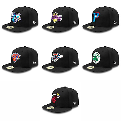 New Era Fitted 'Basic' 59FIFTY NBA Cap - Hornets,Pistons,Lakers,Knicks,Thunder
