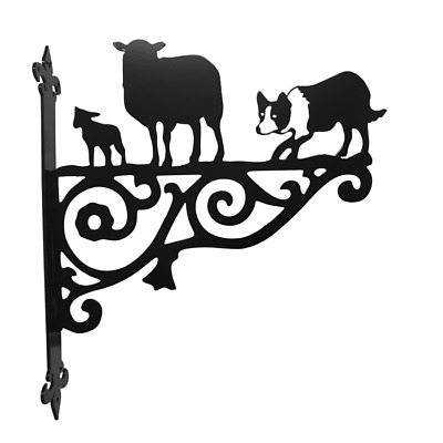 Border Collie Dog & Sheep Ornamental Bracket  Collies Dogs Sheepdog