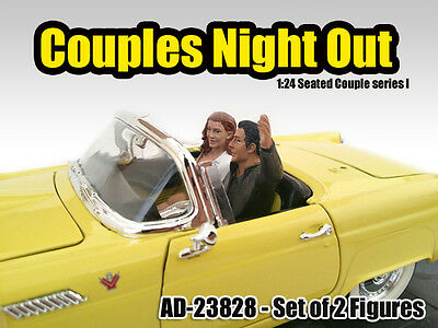 Couples Night Out #1-2 seated figures 1/24 (G) -figure/figurine-American Diorama