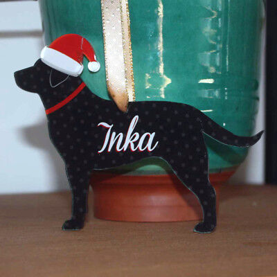 Dog Bauble Xmas Decoration, Personalised Dog Name Plaque, Labrador Name Sign