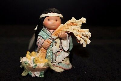 Friends of the Feather Figure 'Bless Your Life Harvest' Woman Baby Enesco 475262