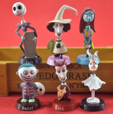 6pcs/set  The Nightmare Before Christmas Jack Sally Zero PVC Toys Action Doll