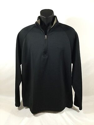 COLUMBIA Sportswear mens Polyester Solid Black 1/2 Zip Jacket size L NWOT