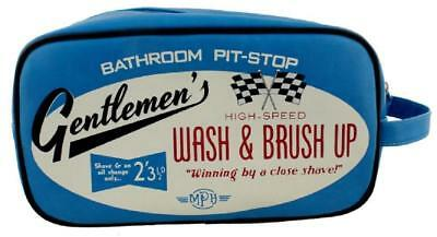 Gentlemen's bathroom pit-stop racing car wash  brush up toiletry sponge bag