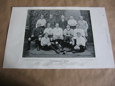 Corinthians  Football Club Team Photograph 1895