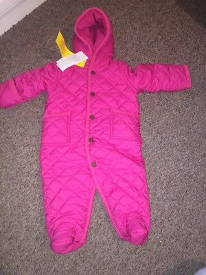 Ralph Lauren Baby Girl Age 6 Months Pram Coat All In One Playsuit Winter Snow