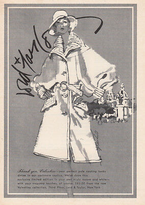 1973 Lord & Taylor: Thank You Valentino Vintage Print Ad
