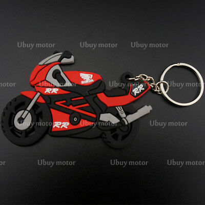For Honda CBR RR Gift 2017 Motorcycle Rubber Keyring Keychain Key Chain Key Ring