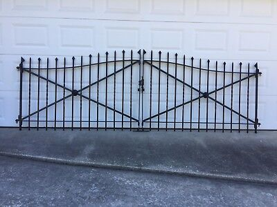 Matching Wrought Iron Driveway Gate and Fencing