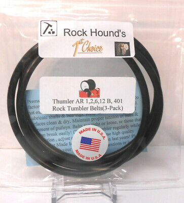 Made In USA Belt for Thumler's Rock Tumbler's AR 1,2,6,12 &B (3) FREE LUBRICANT!