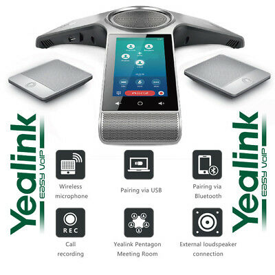 Yealink CP960 Conference Phone Enterprise w/ 2 Wireless Mics Poe WiFi Bluetooth