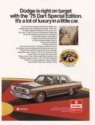 1975 Dodge Dart Special Edition: Right on Target Vintage Print Ad