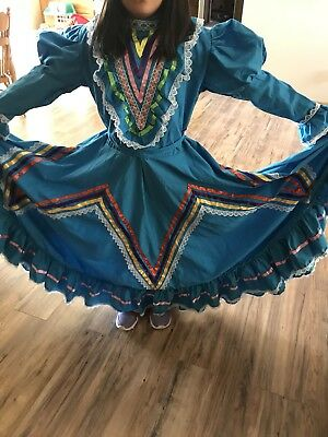 Mexican Ballet Folklorico Jalisco Dress Girls size 14/16