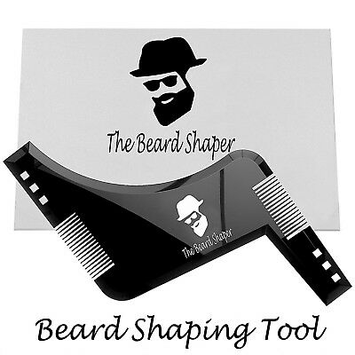 BEARD SHAPING TOOL - Template, Shaper, Stencil, Trimming, Comb Barber UK SELLER