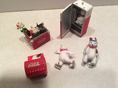 LOT of 5 CocaCola ornaments/trinkets