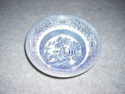 Vintage ENGLISH IRONSTONE TABLEWARE (EIT) Blue Willow Soup Bowl : ironstone tableware - pezcame.com