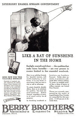 1925 Berry Brothers Varnishes: Like a Ray of Sunshine Vintage Print Ad