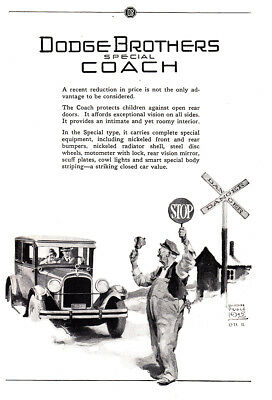 1925 Dodge Brothers Special Coach: Crossing Guard Vintage Print Ad