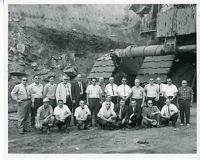 Vintage 1966  8x10 Photo Marion Power Shovel with Men at the Base