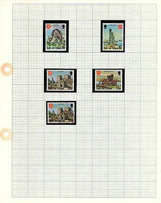 Isle of Man Stamps -1980 Mint Set of Definitive Issue SG115 - 117 and 120