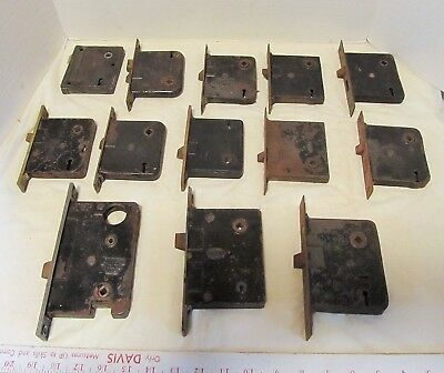 Vintage Door Mortise Lock Sargent,Corbin lot 13 salvage,architectural LQQK!