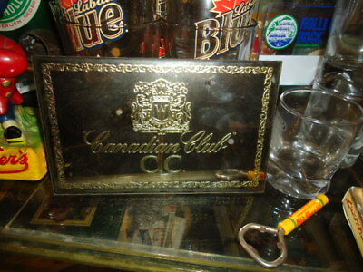 Rare Antique Vintage Small Canadian Club Whiskey Bar Sign Man Cave Great Mirror