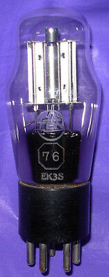 Scarce Strong Japanese TEN brand Bright Plate Type 76 Triode Tube