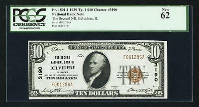 Belvidere, IL - $10 1929 Ty. 1 The Second NB Ch. # 3190