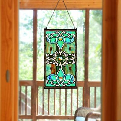 Stained Glass Panel for Window Suncatchers Tiffany Look Decor Victorian G