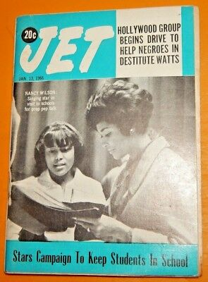 Jan 13,1966 Jet Magazine Nancy Wilson, Satchel Page & Meadowlark Lemon, Supremes