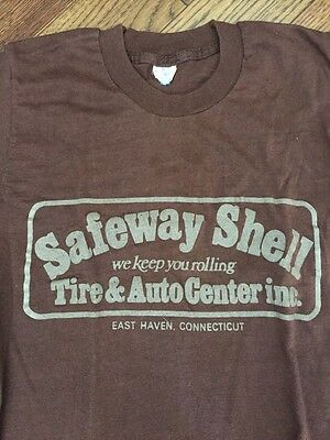 Vintage Safeway Shell/ Connecticut 70's Youth T-shirt - 10-12