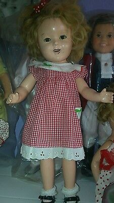 Shirley temple 1930s compositon doll