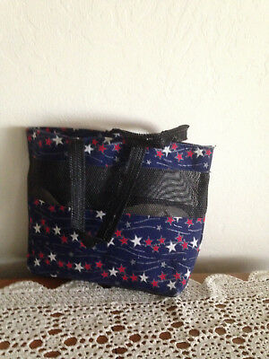 Patriotic Tote Bag Red, White and Blue Stars