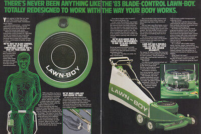 1983 Lawn Boy: Never Been Anything Like the 83 Blade Control Vintage Print Ad