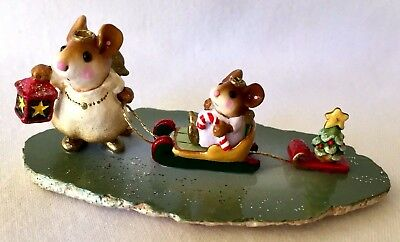 """RETIRED Wee Forest Folk Mouse """"LIGHTING THE WAY""""  M-262 Original Box MINT"""