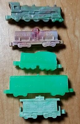 Cracker Jack F-5000 Series Marbarblized Train Engine Passenger Car Tanker Toy