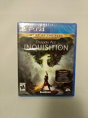 Dragon Age Inquisition Game of the Year Edition PS4 Sony NEW SEALED PlayStation