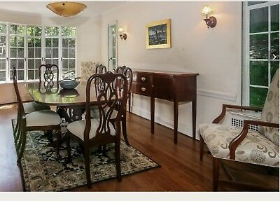 Ethan Allen Chippendale Dining Table and Chairs (6)