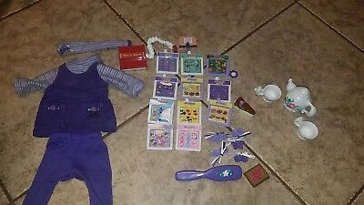 Amazing Ally Doll Accessory LOT  Books, Berets, Brush, Teapot, Cups, Clothes